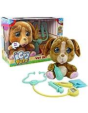 Giochi Preziosi - Emotion Pets Cry Pets Veterinary Set Deluxe interactief pluche dier, 22 cm, MTC01000
