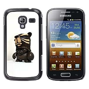 Estuche Cubierta Shell Smartphone estuche protector duro para el teléfono móvil Caso Samsung Galaxy Ace 2 I8160 Ace II X S7560M / CECELL Phone case / / 3D Figurine Chocolate Dark Man /