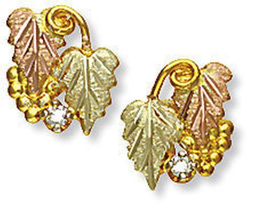 - Landstroms 10k Black Hills Gold Earrings with Diamond - G L01277