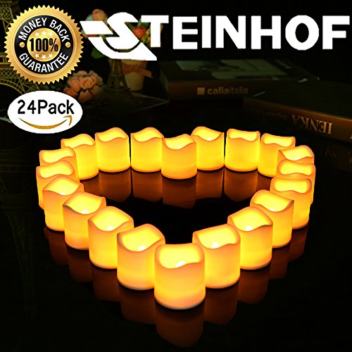 "1.9""x2"" Flameless Flickering Led Tea Lights Bright Realistic"