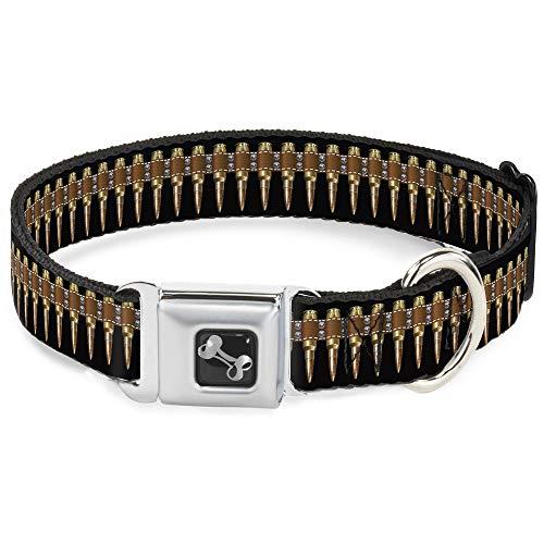 Buckle Down Bullets Dog Collar Bone, Large/15-26
