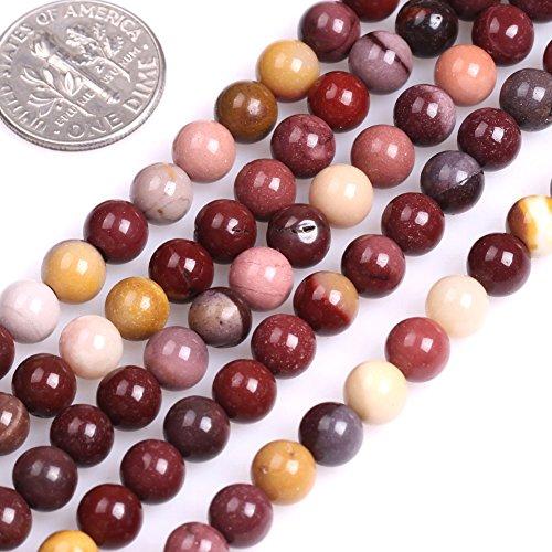 GEM-inside Mookaite Jasper Gemstone Loose Beads 6mm Round Beads Gemstone Gem Round Loose Beads Findings Accessories Strand 15 Inches