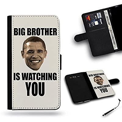 Hot Case Free Stylus // Cellphone Leather Wallet Case Protective Case Slot Cover Case for Samsung Galaxy S3 i9300 Samsung S3// big brother is watching US president barack obama