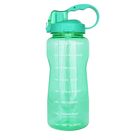 6d70f823eb BuildLife Motivational Gallon Water Bottle 64OZ/128OZ with Unique  Timeline/Measurements/Goal Marked Times for Measuring Your Daily Water  Intake, ...