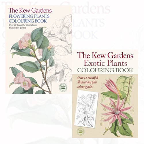 The Kew Gardens Plants Colouring Book 2 Books Bundle Collection Flowering Exotic