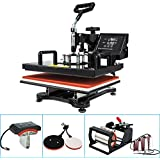 "8 in 1 Heat Press - Heater Size: 12""X15""(29X38cm) - for T-Shirt Mug Hat Plate Cap &More"