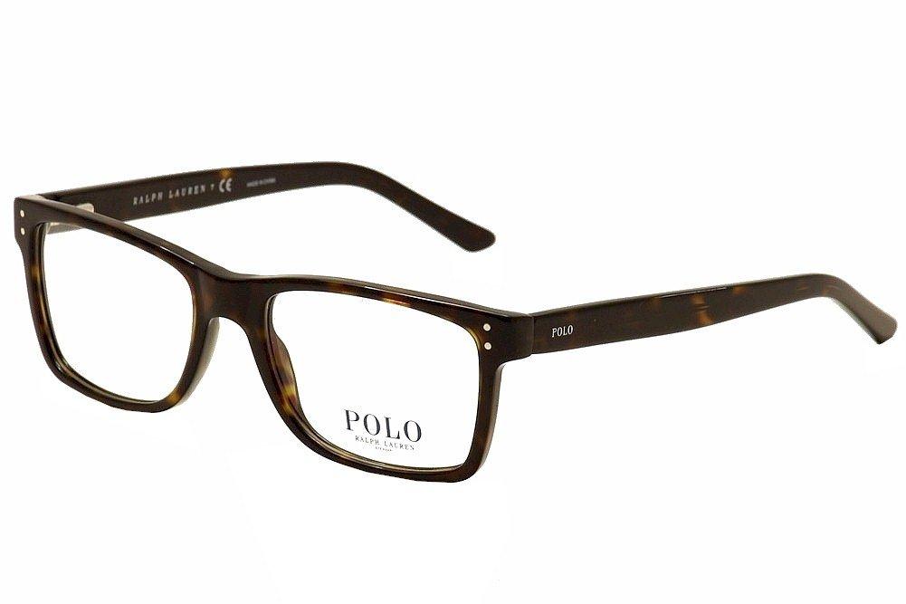 Polo PH 2057 Eyeglasses Styles Havana Frame w/Non-Rx 55 mm Diameter Lenses, PH2057-5003-55