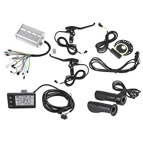 (Dilwe Brushless Motor Speed Controller, Sensitive Brushless Motor Controller LCD Panel Kit for E-Bike Electric Bicycle 36V/48V)