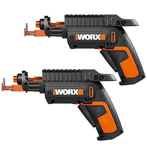 WORX WO7035 2 Pack of WX255L SD Semi-Automatic Power Screw Driver with Screw Holder, Black/Orange by Worx