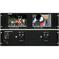 Marshall Electronics V-MD72-3GSDI | Dual 7inch LCD 3 Rack Units Mount Monitor 3G-SDI Modules