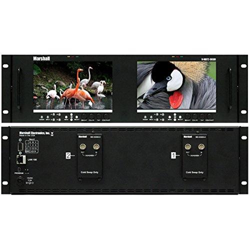 - Marshall Electronics V-MD72-3GSDI | Dual 7inch LCD 3 Rack Units Mount Monitor 3G-SDI Modules