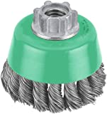 Hitachi 729211 3-Inch Crimped Carbon Steel Wire Cup Brush, Multi-Arbor (Discontinued by the Manufacturer)