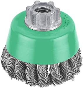 Hitachi 729212 3-Inch Cable Crimped Carbon Steel Wire Cup Brush, Multi-Arbor