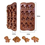 IHUIXINHE Food Grade Silicone Mold, Non-stick Ice Cube Mold, Jelly, Biscuits, Chocolate, Candy, Cupcake Baking Mould, Muffin pan 10 High-quality material: Made of 100% food grade silicone, FDA approved, heat resistant, BPA free. Ovenproof and Freeze-proof: Temperature Safe from -40 to +446 degrees Fahrenheit (-40 to +230 degrees Celsius). You can put them in the microwave, oven, refrigerator, freezer and dishwasher. Multi-functional: These versatile molds not only can be used for making chocolates, but also cakes, mousse, jelly, pudding, frozen yogurt treats, ice cubes with fruit juice, cake decorations, etc can all be made with this one silicone mold. You can make treats for your kids or pets.