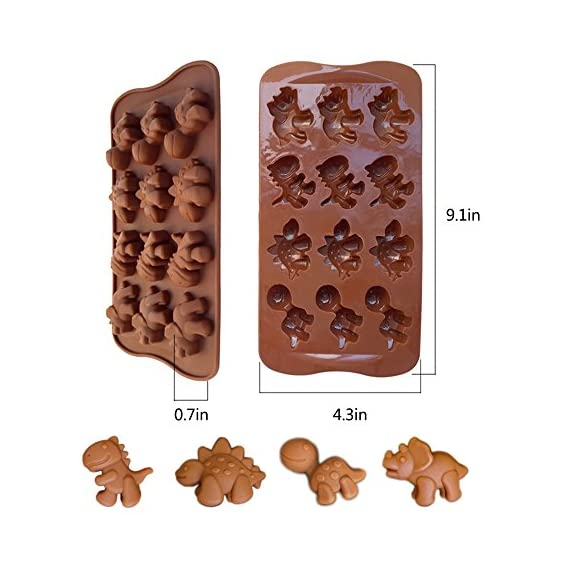 IHUIXINHE Food Grade Silicone Mold, Non-stick Ice Cube Mold, Jelly, Biscuits, Chocolate, Candy, Cupcake Baking Mould, Muffin pan 3 High-quality material: Made of 100% food grade silicone, FDA approved, heat resistant, BPA free. Ovenproof and Freeze-proof: Temperature Safe from -40 to +446 degrees Fahrenheit (-40 to +230 degrees Celsius). You can put them in the microwave, oven, refrigerator, freezer and dishwasher. Multi-functional: These versatile molds not only can be used for making chocolates, but also cakes, mousse, jelly, pudding, frozen yogurt treats, ice cubes with fruit juice, cake decorations, etc can all be made with this one silicone mold. You can make treats for your kids or pets.
