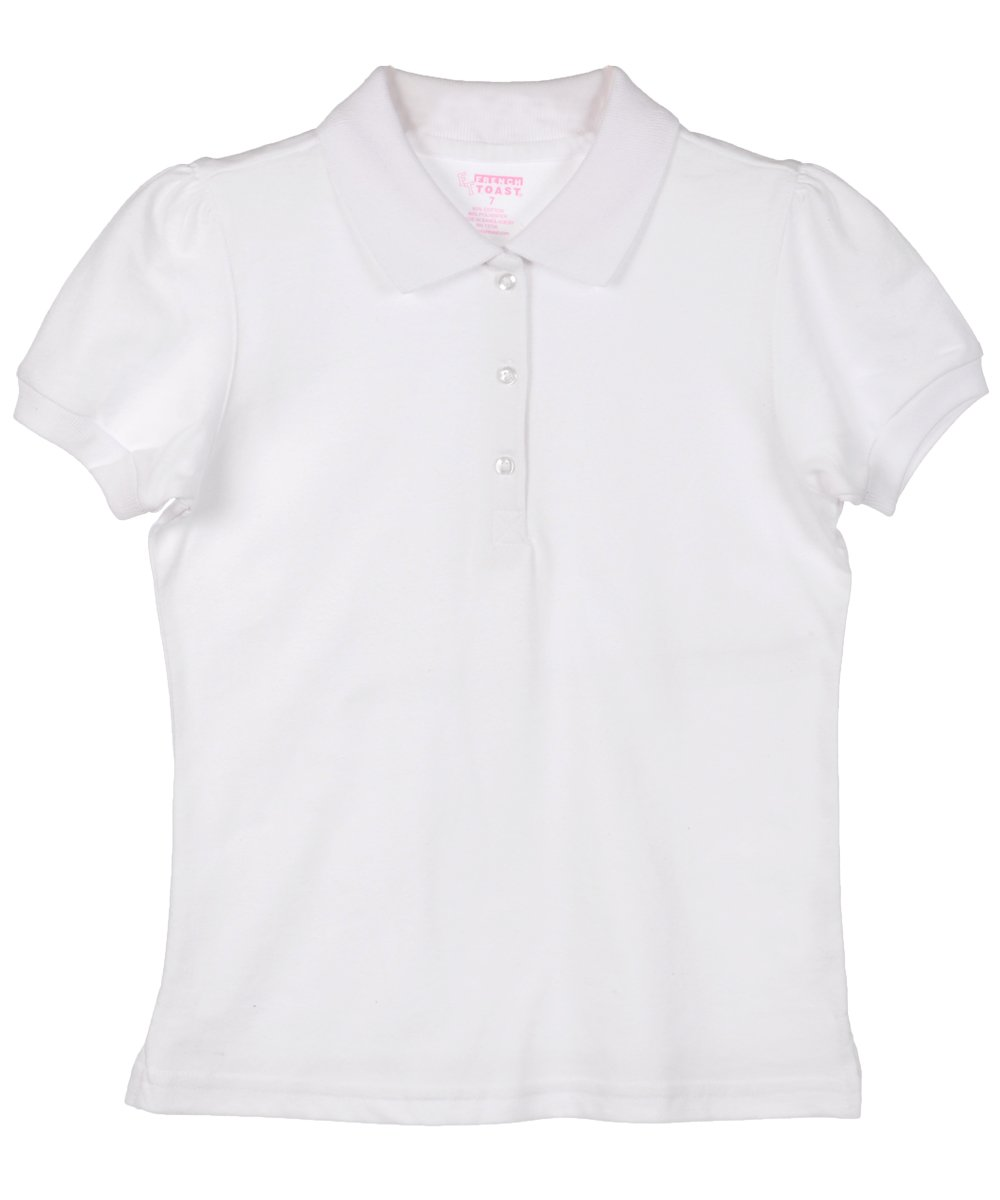 French Toast Big Girls' Nadia S/S Knit Polo Shirt
