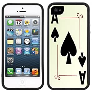 Ace of Spades Poker Cards Handmade iPhone 5 5S Black Case