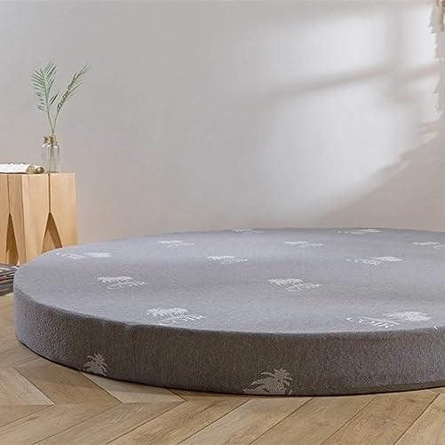 qwqqaq Thicken Tatami Floor Mattress,Round Bed Mattress Japanese Futon Memory Foam Non Slip Mattress Toppers Pad Living Room B 200x200x8cm 79x79x3inch