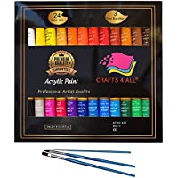 Acrylic paint Set 24 Colours by Crafts 4 ALL Perfect For...