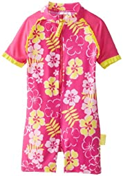 Baby Banz Girls One Piece Swimsuit Sun Blossom, Sunblossom, 6-12 Months