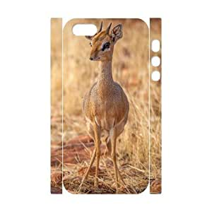 3D baby deer iPhone 6 4.7 Case, Girly Protective Case Color Case For iphone 6 4.7 Tyquin {White}
