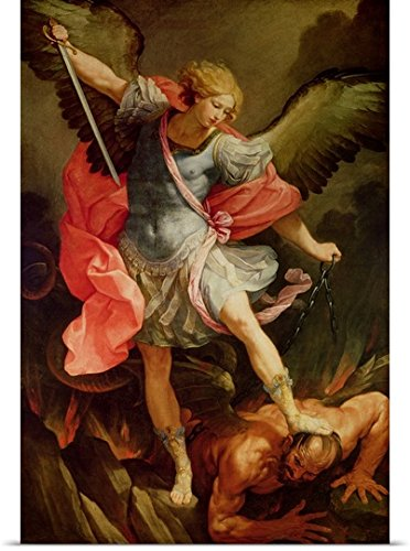 Guido Reni Poster Print entitled The Archangel Michael defeating Satan