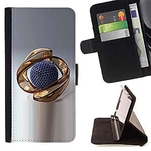 For Samsung Galaxy A5 ( A5000 ) 2014 Version Case , El extracto del oro- la tarjeta de Crédito Slots PU Funda de cuero Monedero caso cubierta de piel