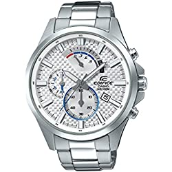 Casio Men's 'Edifice' Quartz Stainless Steel Casual Watch, Color Silver-Toned (Model: EFV-530D-7AVCF)