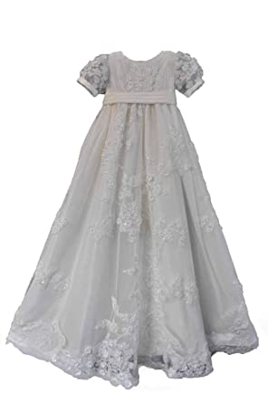 083c3dd1d3c9 Amazon.com  Faithclover Baptism Dresses Baby Girls Toddler Long ...