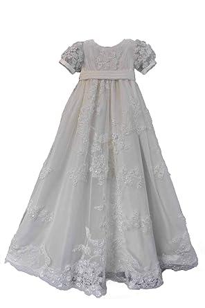 13f3e262c6dc Amazon.com  Faithclover Baptism Dresses Baby Girls Toddler Long ...