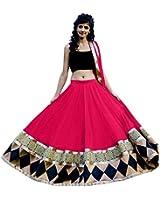 jay shree Krishna (Kaju Katri Pink Black Lehenga_pink black_Free Size)