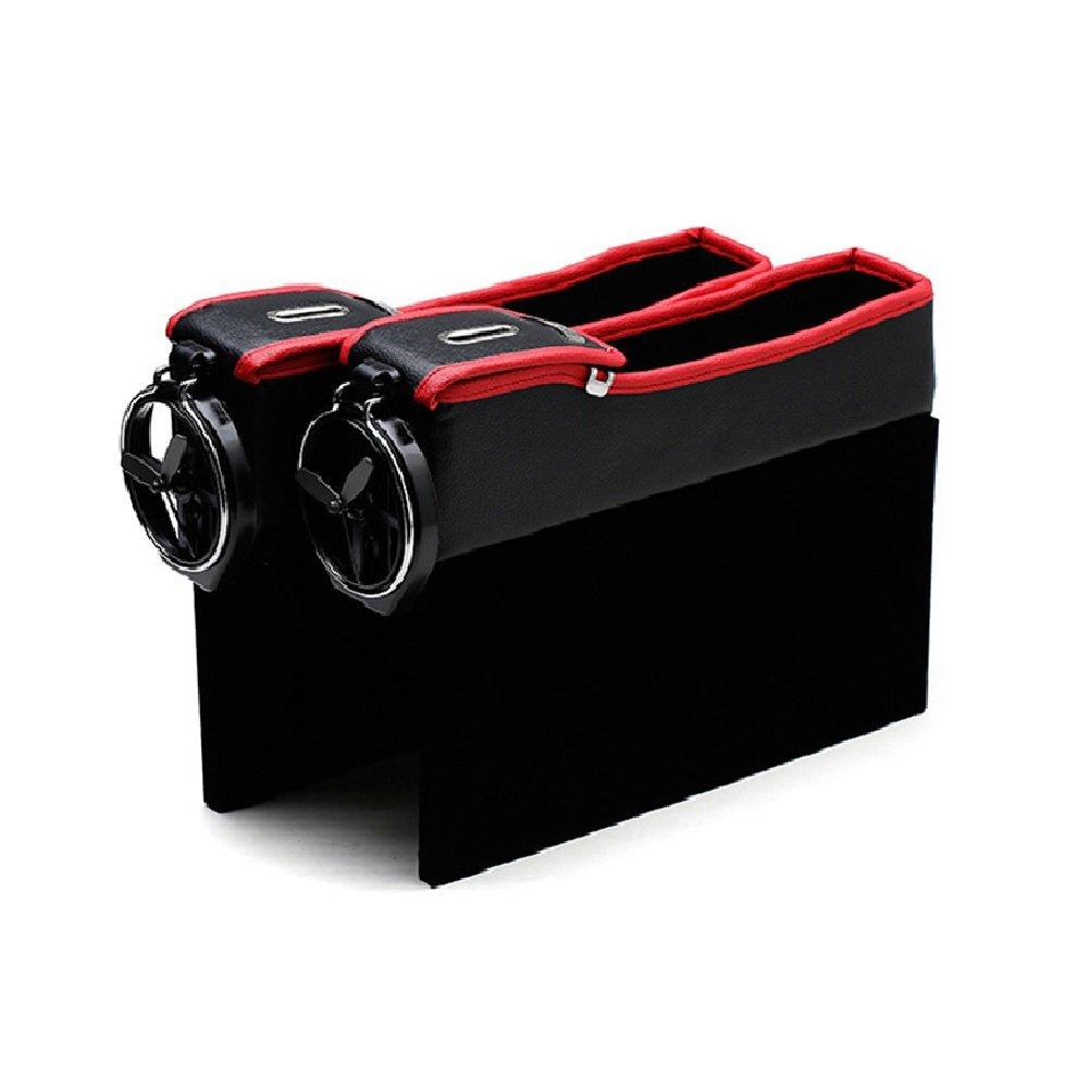 Zhhlinyuan Dauerhaft 2pcs Universal Car Auto Seiten Schlitz Seat Filler Gap Bottle Coffee Cup Holder Storage Box Organizer LY-xin-2490-1