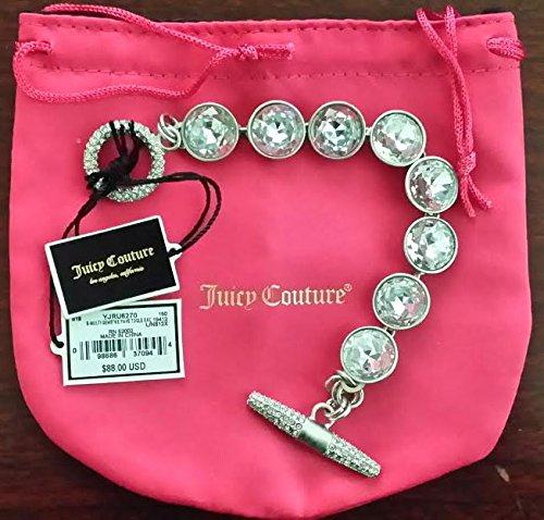 New Juicy Couture Gemstone Toggle Bracelet w/ Pink Gift Bag - Msrp $88.00 (T-yjru6270)