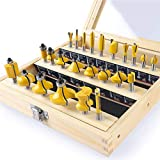 KOWOOD 24X Router Bits Set 1/4 Inch Shank Made of
