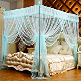 MVW Four corner pink mosquito net Palace, the Court of stainless steel child mosquitoes Dormitory Room Four Poster Bed - Rideau - 120 x 200 cm (47 x 79 Customs)