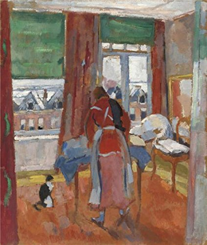 Perfect Effect Canvas ,the Amazing Art Decorative Canvas Prints Of Oil Painting 'Rik Wouters - Ironer, 20th Century', 30x35 Inch / 76x90 Cm Is Best For Garage Decoration And Home Decor And Gifts ()
