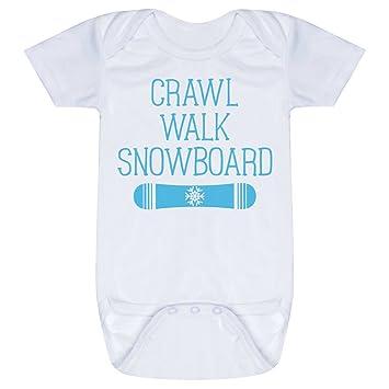 amazon com snowboarding baby infant onesie crawl walk snowboard