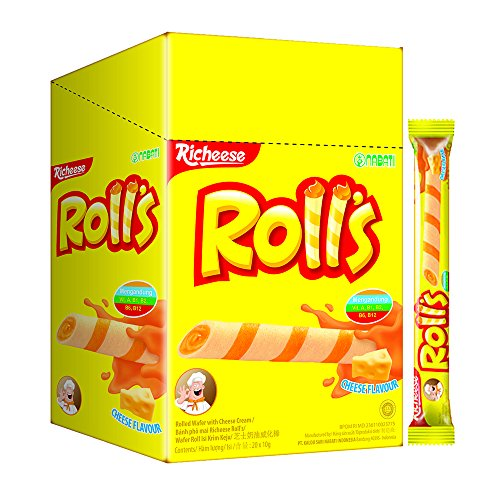 Nabati Richeese Cheese Rolls 8g (628MART) (20 Piece)