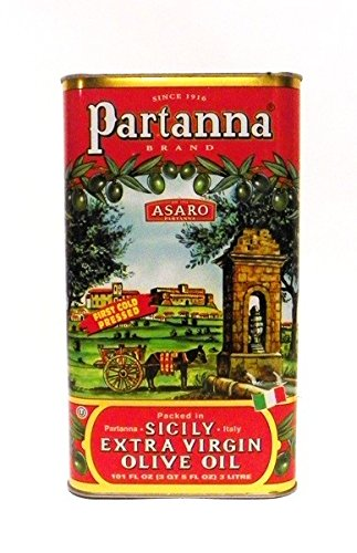 Partanna Extra Virgin Olive Oil, 101-Ounce Tin (Pack of 4)