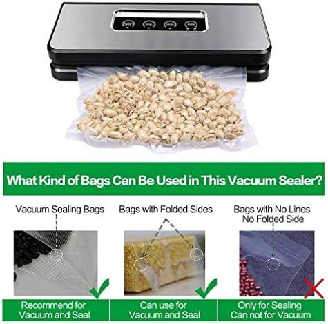Logo 3 en 1 Vide Scellant Machine Automatique Food Saver for et Sec Moist Aliments Frais Conservation Sacs à Vide, Facile à Nettoyer Design Compact