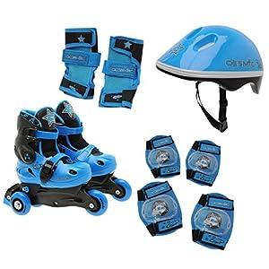 Cosmic Skate Und Schutz Kinder Set Inline Skates Helm Protektoren Schoner...