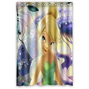 Scottshop Custom Tinker Bell Shower Curtain High Quality Waterproof Polyester Fabric Bathroom Curtains 66