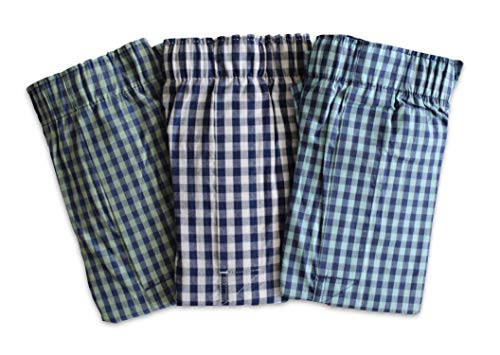 GAP Men's Lot of 3 Boxer Shorts (X-Large 38-40 Inch XL) Gingham Patterns Boxers