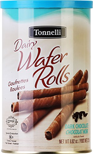 - Tonnelli Dark Chocolate Wafer Rolls (2 Pack)