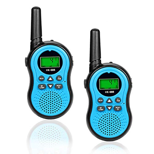 Kids Toys for 3-15 Year Old Boy, Fun Gifts for Teen Girls Boys, Happy Gift Walkie Talkies for Children Teen Boy Gifts Birthday Presents,Boys Gift Age 5,HK-688 1Pair(Blue) (Best Toys For 15 Year Olds)