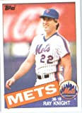 1985 Topps Baseball Card # 590 Ray Knight New York Mets Mint Condition- Shipped In Protective Screwdown Display Case!