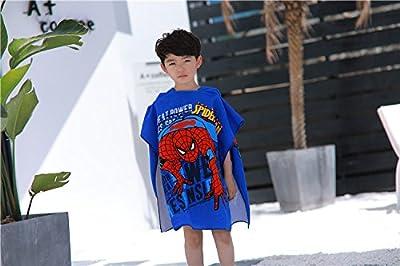 Dynamic Panda Hooded Beach Towel for Children, For Bath, Shower, Pool, Swim, Hooded Poncho Bathrobe, Ultra Soft Microfiber, Boys and Girls Ocean Towel