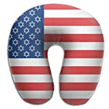Scorpio Israeli American Flag Lightweight Travel Pillow Spa U SHAPE For Sleeping Unisex