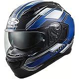 オージーケーカブト(OGK KABUTO)バイクヘルメット フルフェイス KAMUI3 ACCEL(アクセル) フラットブラックブルー (サイズ:L) 585891