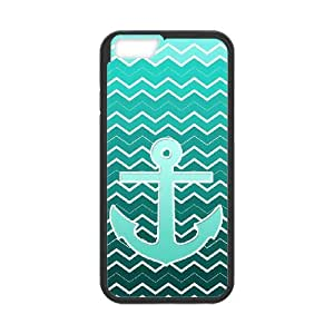 """ALICASE Diy Hard Cover Case Of Blue Chevron Anchor for iPhone 6 (4.7"""") [Pattern-1]"""